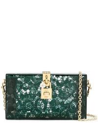 Dark Green Lace Clutch