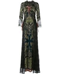 Etro Lace Panel Maxi Dress