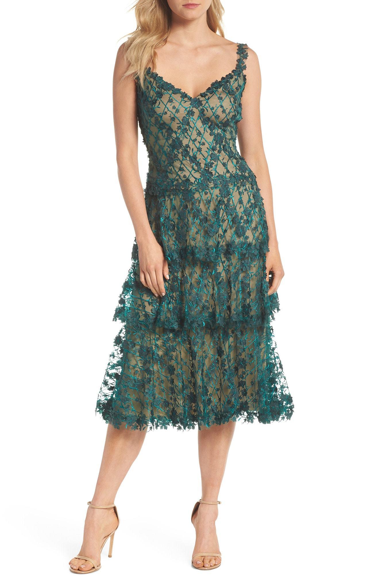 d0dcd89dee573 Tadashi Shoji 3d Floral Midi Dress, $508 | Nordstrom | Lookastic.com