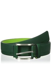 Dark Green Leather Belt