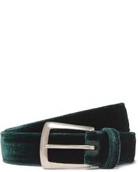 Saint Laurent 25cm Green Velvet Belt