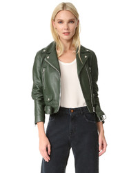 Acne Studios Mock Leather Moto Jacket