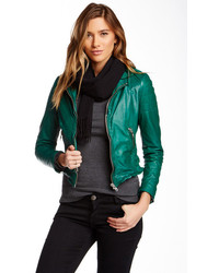 Muu Baa Muubaa Presley Genuine Leather Biker Jacket
