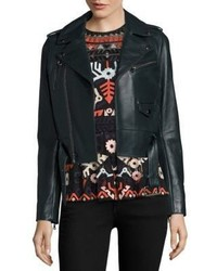 Parker Cooper Cropped Leather Moto Jacket