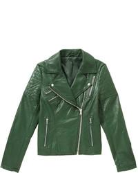 Joe Fresh Zip Moto Jacket Dark Green
