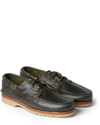 Leather boat shoes medium 206175