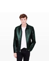 Club Monaco Golden Bear Leather Jacket