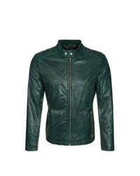 Freaky Nation Mc Queen Leather Jacket Green
