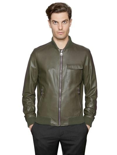 a893dd2b2 $3,274, Salvatore Ferragamo Nappa Leather Bomber Jacket