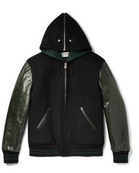 Maison Margiela Wool And Leather Bomber Jacket