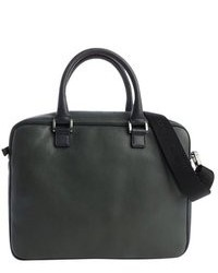 Dark Green Leather Briefcase
