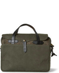 Original leather trimmed twill and harris tweed briefcase medium 73987