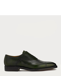 Bally Scanio Dark Green Leather Oxford Shoe