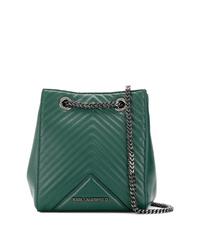 Karl Lagerfeld Kklassik Quilted Bucket Bag