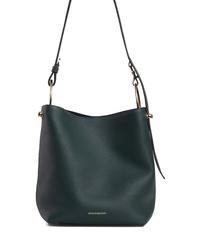 STRATHBERRY Midi Lana Leather Bucket Bag