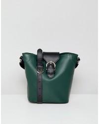 ASOS DESIGN Structured Leather Detail Bucket Bag