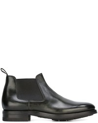 Dark Green Leather Chelsea Boots