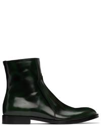 Maison Margiela Green Waxed Boots