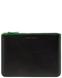 Comme des garons play marvellous leather zip case medium 30396