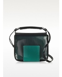 Dark greenaubergine iridescent lady j crossbody clutch medium 79085