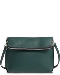 Dark Green Leather Crossbody Bag