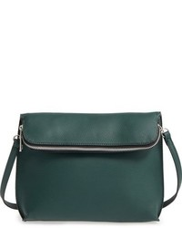 Street Level Faux Leather Crossbody Bag Black