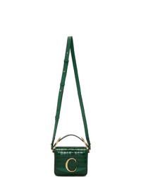 Chloé Green Mini Croc C Bag