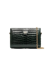 7ee4762e8a3 Gucci Green Ophidia Small Crocodile Leather Shoulder Bag