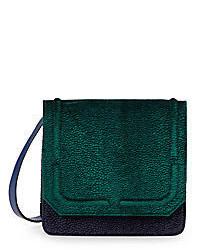Dannijo Lypton Velvet Leather Colorblock Crossbody Bag