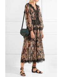 addc8ee849 ... Chloé Marcie Mini Textured Leather Shoulder Bag Forest Green