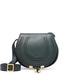 Chloé Marcie Mini Textured Leather Shoulder Bag Forest Green