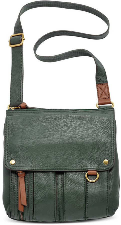 2160d87bf7 Fossil Morgan Leather Traveler Crossbody Bag, $168 | Macy's ...