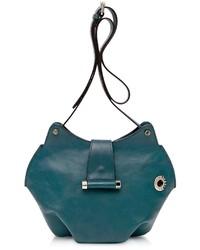 Francesco Biasia Neroli Emerald Green Leather Crossbody Bag