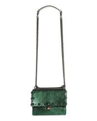 Fendi Small Kan I Metallic Leather Shoulder Bag