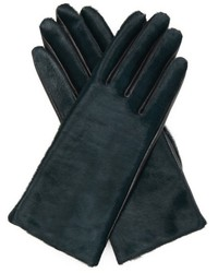 Agnelle Chloe Calf Hair And Leather Gloves