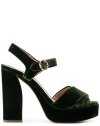 Block heel textured sandals medium 5251847
