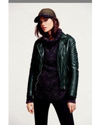 Dark Green Leather Jackets For Women Women S Fashion