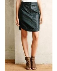 Anthropologie Mve Rounded Vegan Leather Skirt
