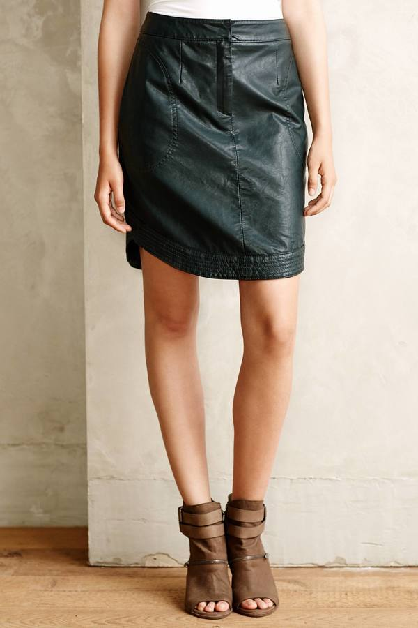 Anthropologie Mve Rounded Vegan Leather Skirt | Where to buy & how ...