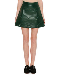 Scalloped rockstud leather a line miniskirt medium 3729898