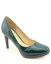 Cole Haan Chelsea Pump Green Patent Leather Pumps Heels Shoes