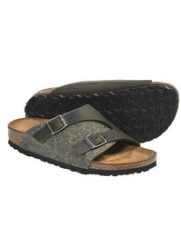 Birkenstock Zurich Sandals Leather Green Leatherwool