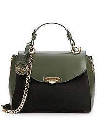 Calf hair leather satchel medium 225560
