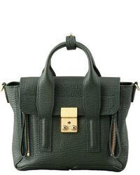 3.1 Phillip Lim Mini Pashli Leather Satchel Dark Green