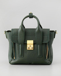 Mini pashli leather satchel dark green medium 55320