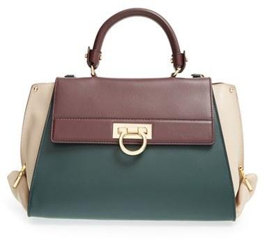 6eee2eb3c2 ... Bags Salvatore Ferragamo Sofia Colorblock Leather Satchel