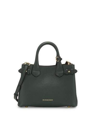 ... Leather Tote Bags Burberry Banner Small House Check Derby Tote Bag Dark  Bottle Green ... 07356b692e956