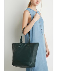 Forever 21 Faux Leather Tote And Pouch