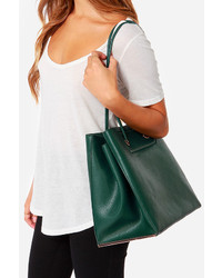 Leave The Night On Dark Green Tote