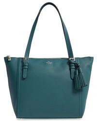 New york orchard street maya leather tote green medium 951761